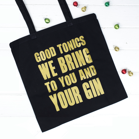 'Good Tonics We Bring' Christmas Tote Bag-Tote Bag-Of Life & Lemons®