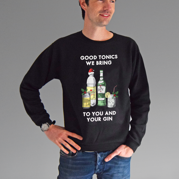 'Good Tonics We Bring' Gin Christmas Jumper-Tote Bag-Of Life & Lemons®