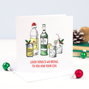 'Good Tonics' Gin Christmas Card