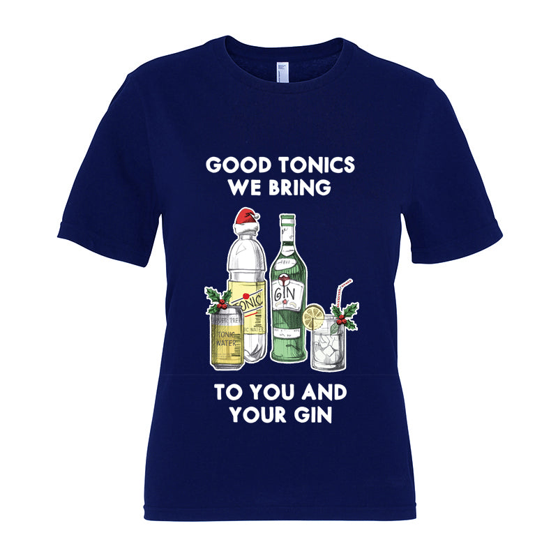 'Good Tonics We Bring' Christmas T-Shirt-Tote Bag-Of Life & Lemons®