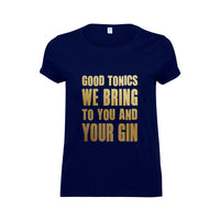 'Good Tonics We Bring' Gin Christmas T-Shirt-Tote Bag-Of Life & Lemons®