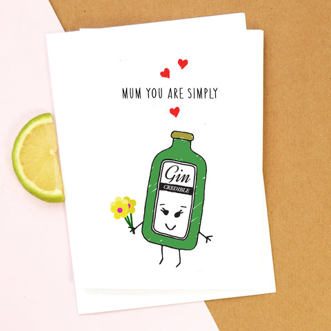 Gin Mother's Day Card-A4 Print-Of Life & Lemons®