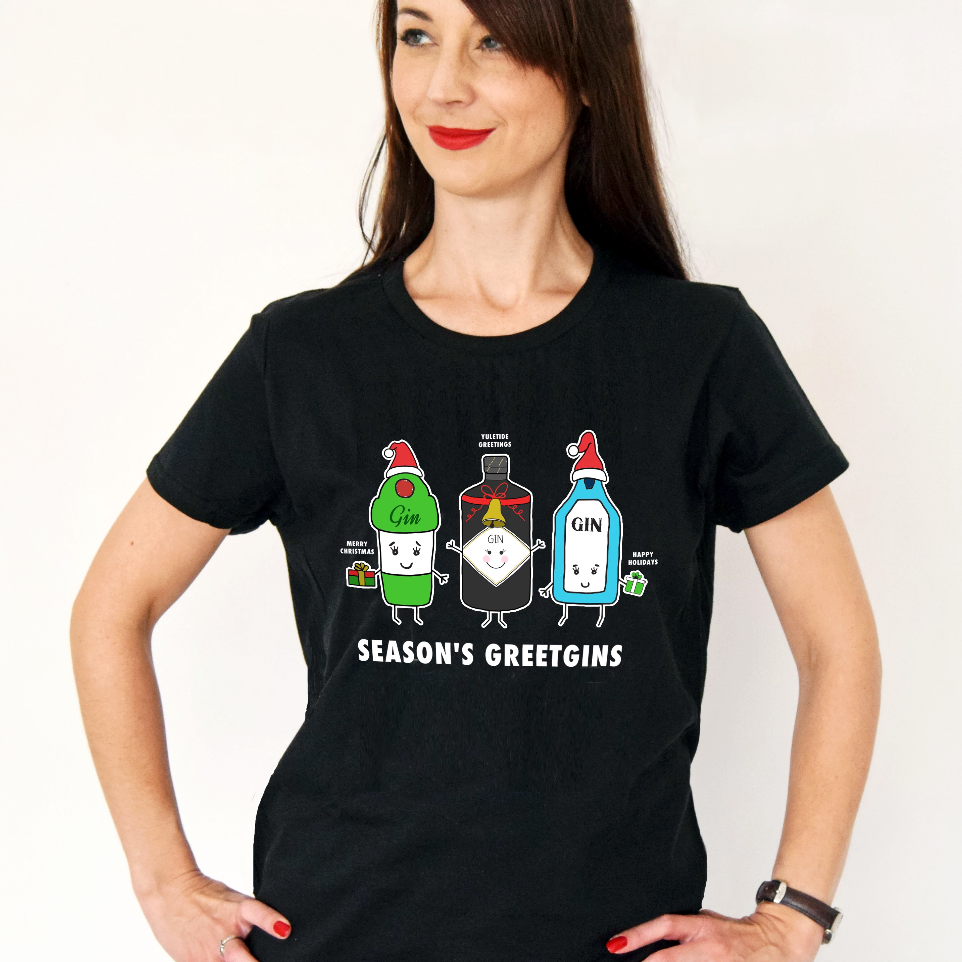 'Season's GreetGINS' Christmas T-Shirt-Tote Bag-Of Life & Lemons®