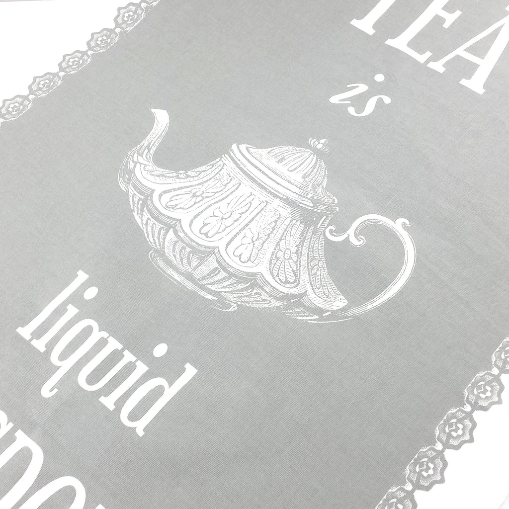 'Tea is Liquid Wisdom' Tea Towel-Tea Towel-Of Life & Lemons®