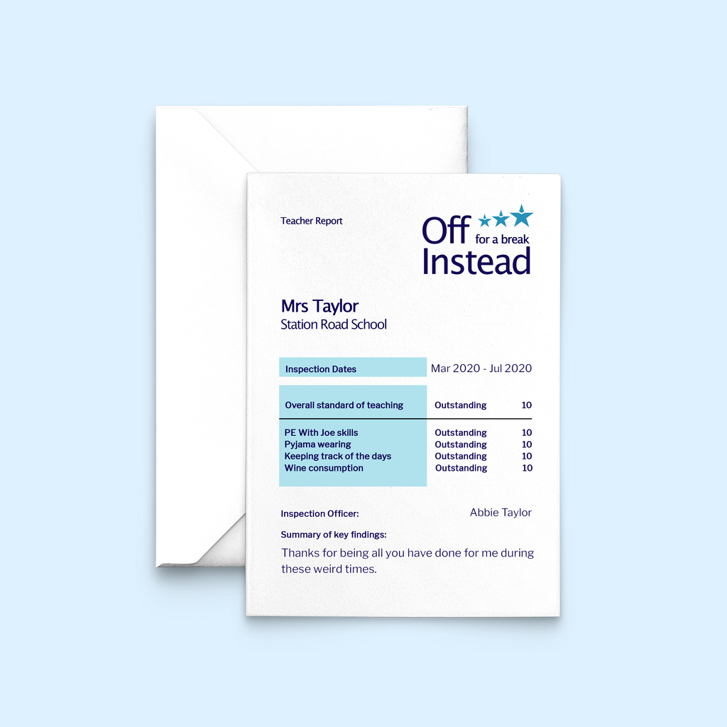 Personalised Ofsted Card