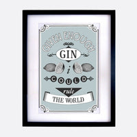 Gin Quote Print-A4 Print-Of Life & Lemons®