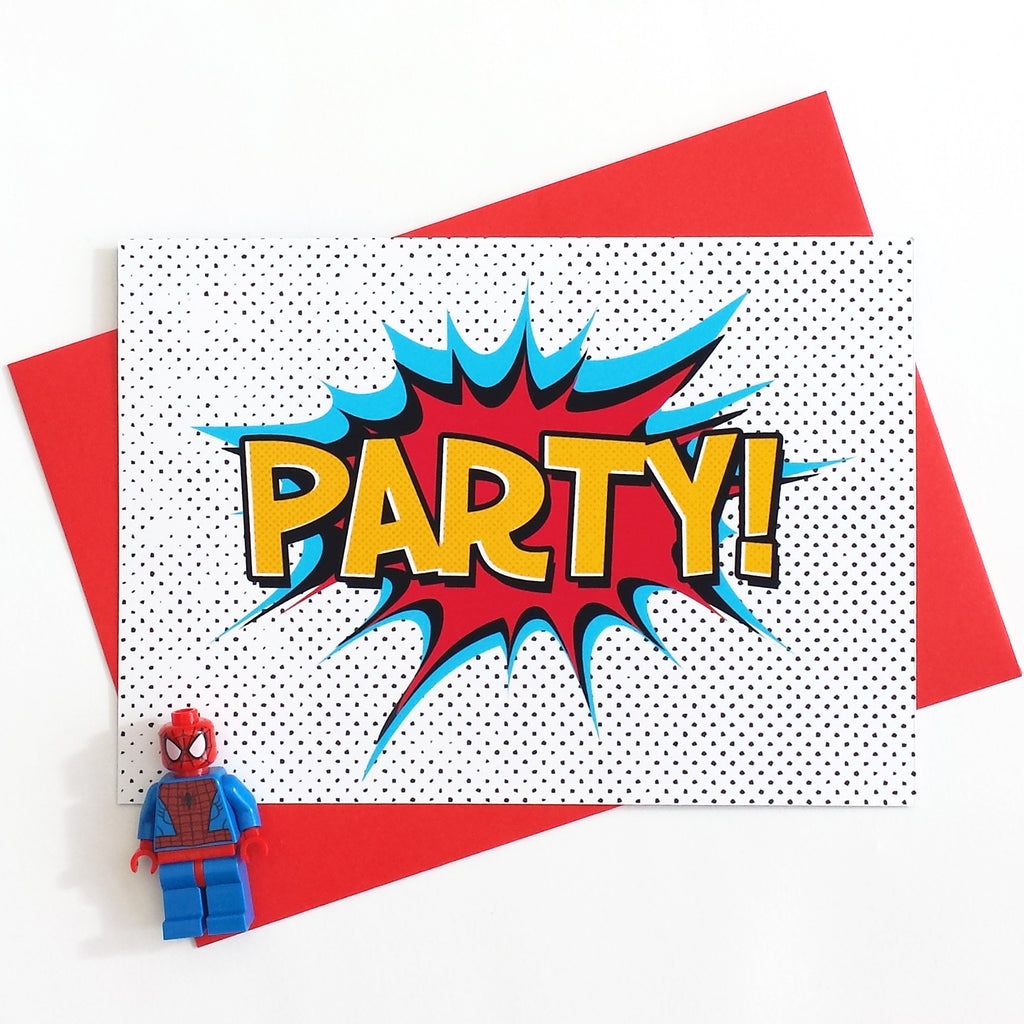 Superhero Party Invitations-Of Life & Lemons®