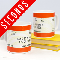 SLIGHT SECOND - Train Ticket Mug-Of Life & Lemons®