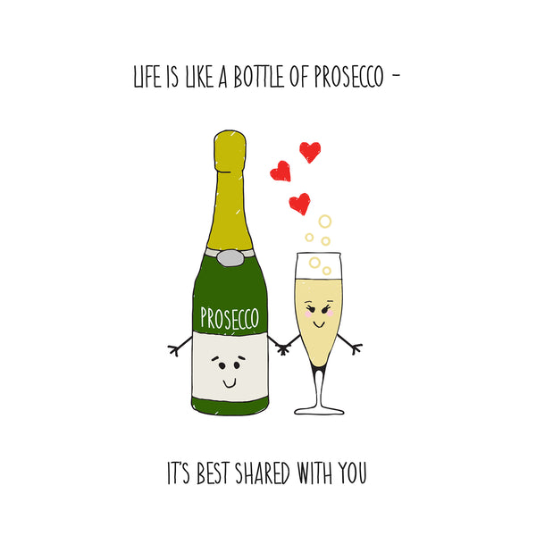 Prosecco Card for Wife