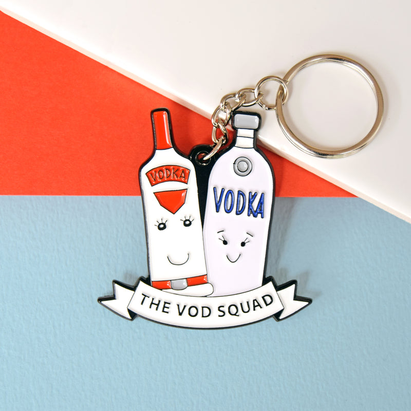 'Vod Squad' Vodka Friendship Keyring-Of Life & Lemons®