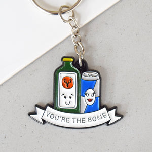 'You're the Bomb' Enamel Keyring-Of Life & Lemons®