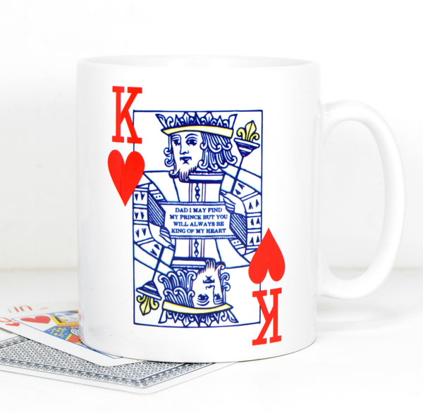 DISCONTINUED - 'King of Hearts' Father's Day Mug