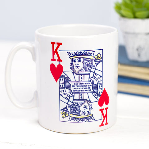 'King of Hearts' Father's Day Mug