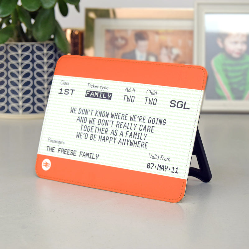 Personalised Freestanding Family Train Ticket-A4 Print-Of Life & Lemons®