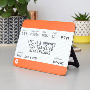 Personalised Freestanding Friendship Train Ticket-A4 Print-Of Life & Lemons®