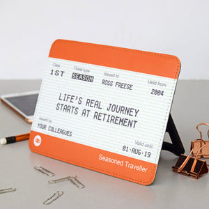 Personalised Freestanding Train Ticket Retirement Gift-A4 Print-Of Life & Lemons®