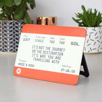 Personalised Freestanding Train Ticket-A4 Print-Of Life & Lemons®