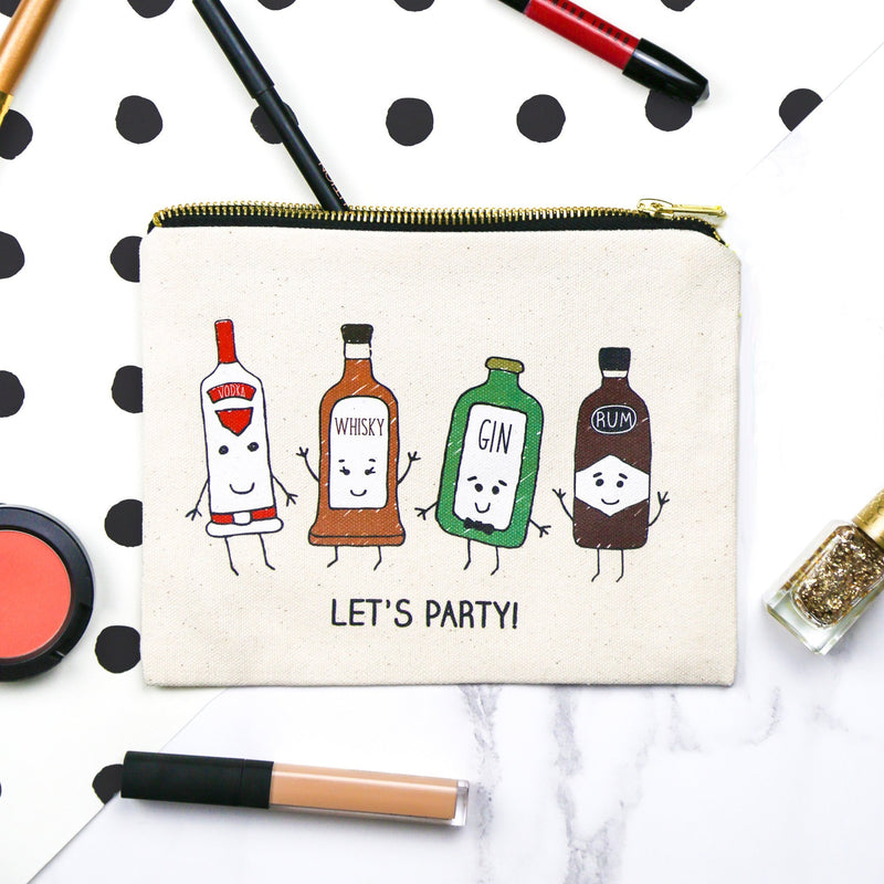 'Let's Party!' Make Up Bag-Tote Bag-Of Life & Lemons®