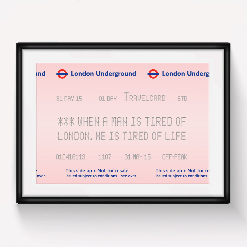London Underground Quote Print-A4 Print-Of Life & Lemons®