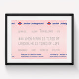 London Underground Quote Print