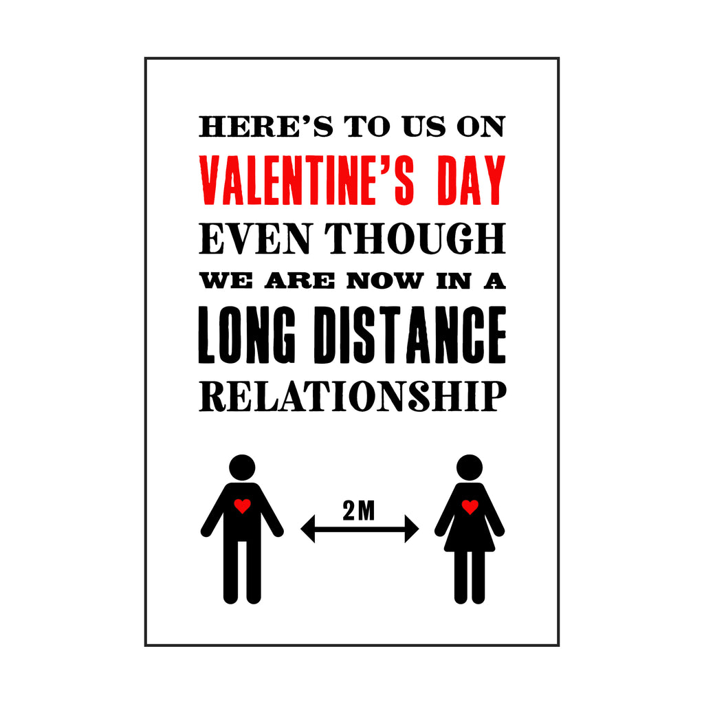 Funny 'Long Distance' Covid Valentine's Card