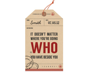 Personalised Luggage Tag Print-A4 Print-Of Life & Lemons®