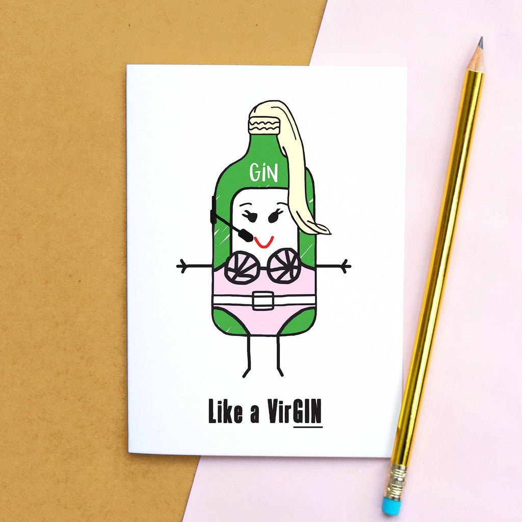 'Like a VirGIN' Funny Card-Of Life & Lemons®