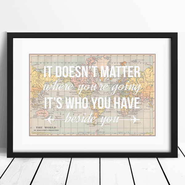 Personalised World Map Print-A4 Print-Of Life & Lemons®