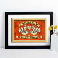 Personalised Matchbox Print-A4 Print-Of Life & Lemons®