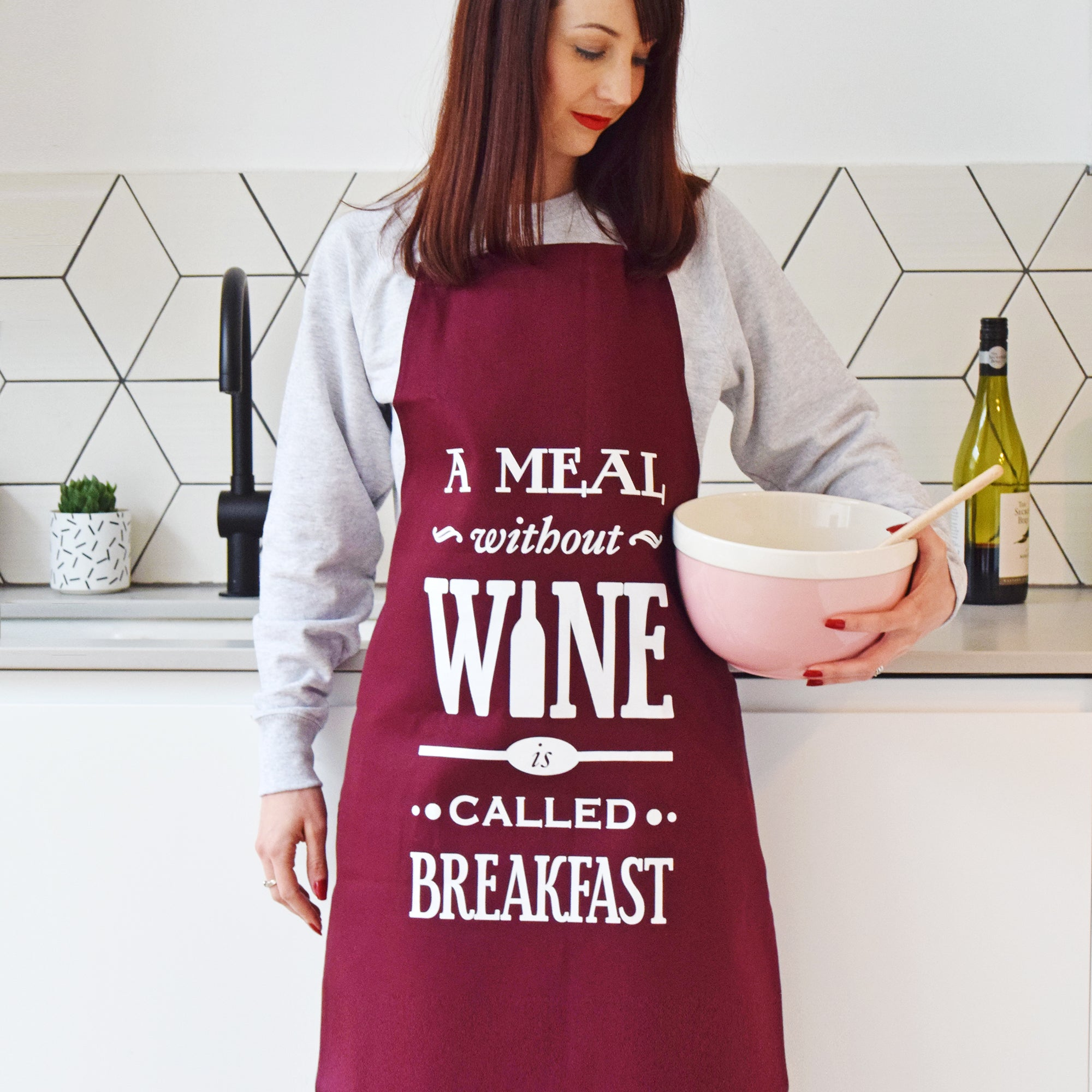 'A Meal Without Wine' Apron-Aprons-Of Life & Lemons®