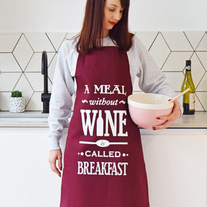 'A Meal Without Wine' Apron