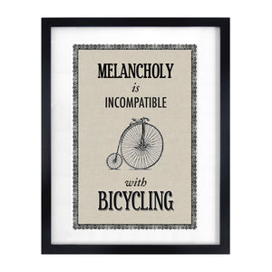 DISCONTINUED - Vintage Bicycle Quote Print-A4 Print-Of Life & Lemons®