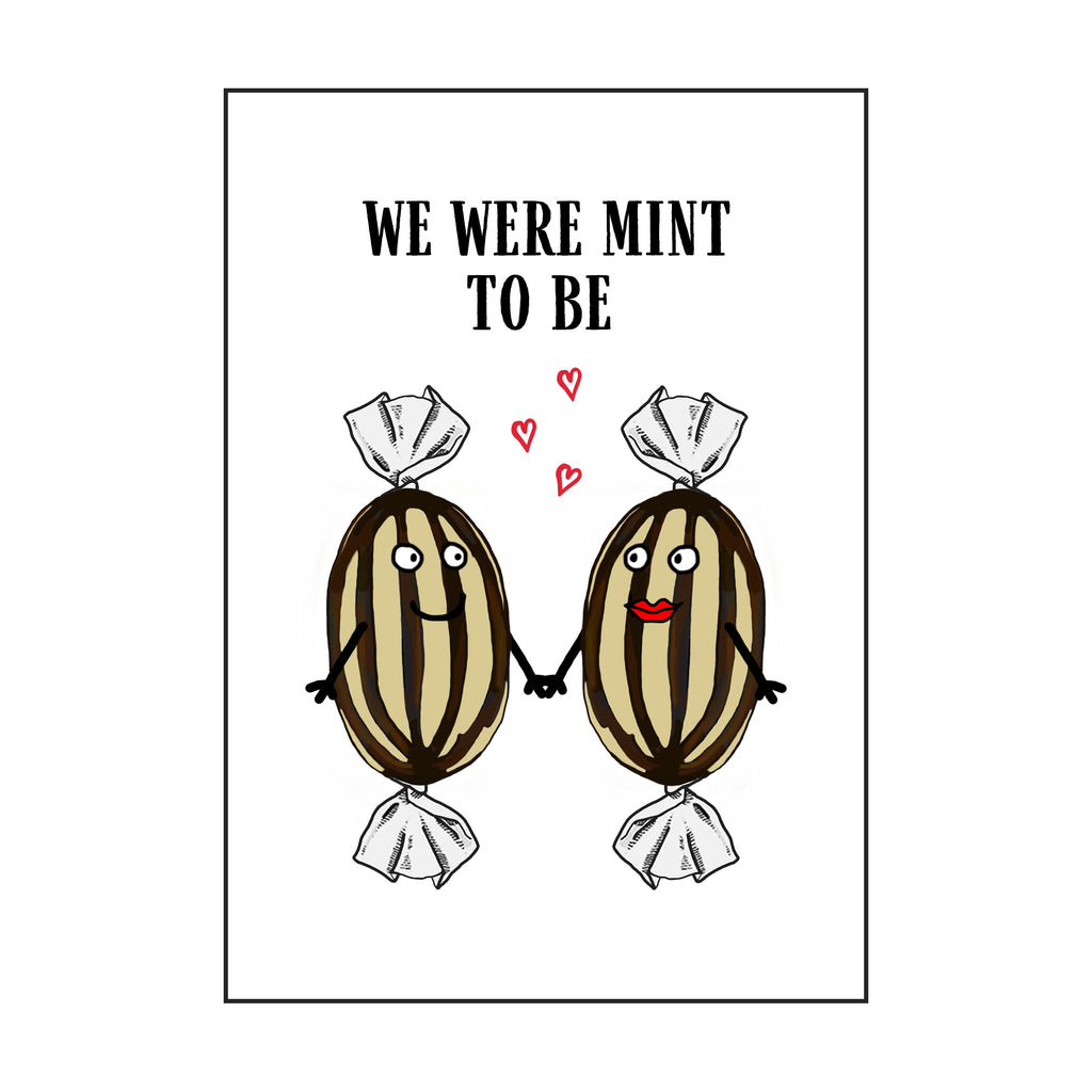 'Mint To Be' Funny Valentine's Card