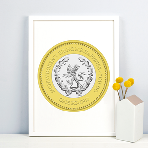 Personalised Coin Print-A4 Print-Of Life & Lemons®