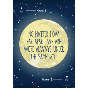 Personalised Long Distance Moon Print-A4 Print-Of Life & Lemons®