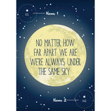 Personalised Long Distance Moon Print