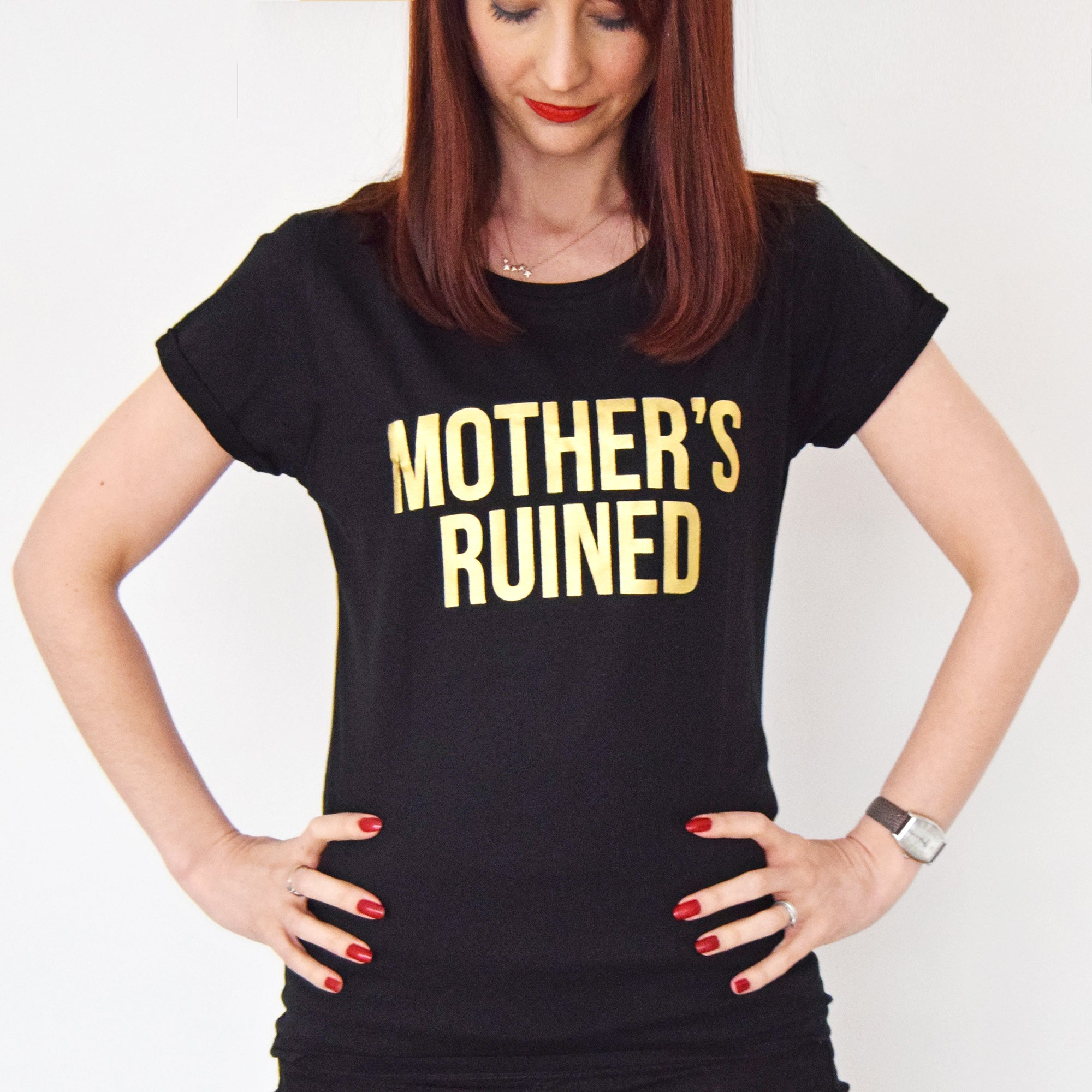 'Mother's Ruined' Funny Gin T-Shirt-Tote Bag-Of Life & Lemons®