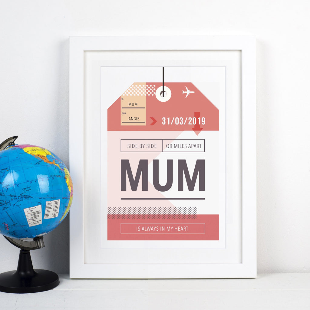 Personalised Luggage Tag Print for Mum-A4 Print-Of Life & Lemons®