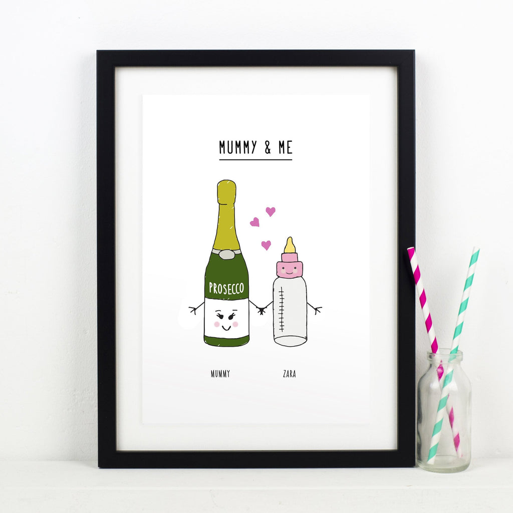 'Mum & Me' Personalised Mothers Day Print-A4 Print-Of Life & Lemons®