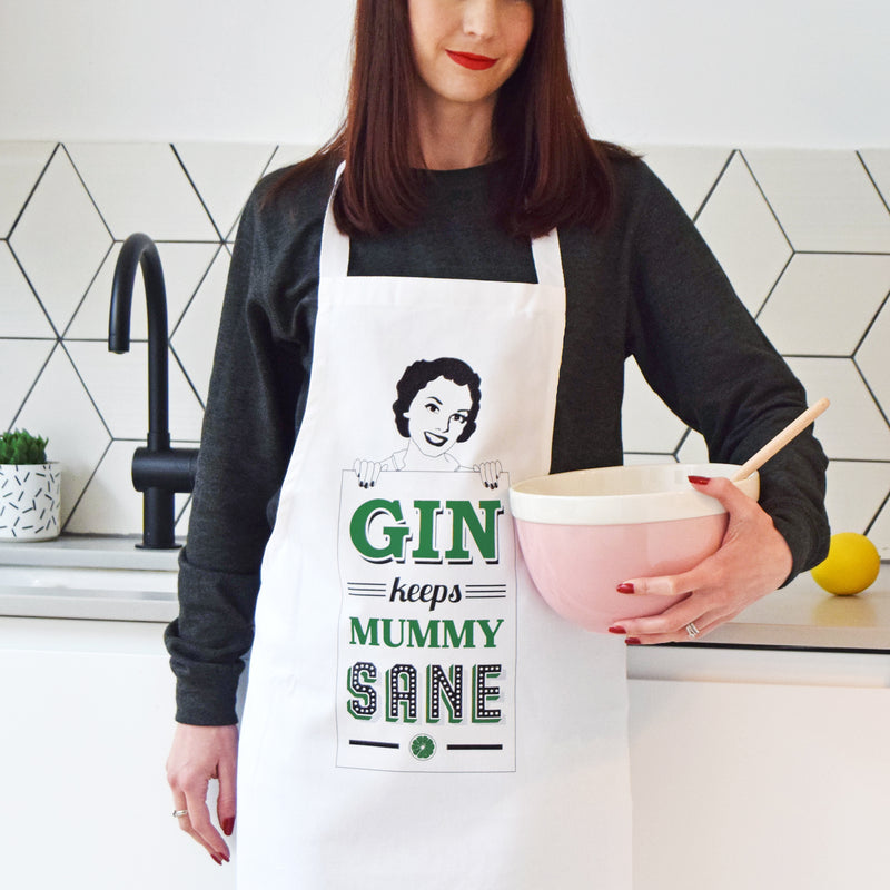 Funny Gin Apron for Mum-Aprons-Of Life & Lemons®