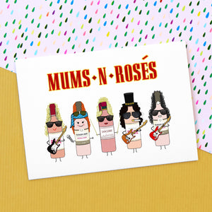 'Mums & Rosés' Funny Wine Mother's Day Card-A4 Print-Of Life & Lemons®