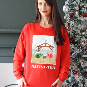 Funny Tea Christmas Jumper-Tote Bag-Of Life & Lemons®