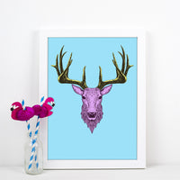 Bright Stag Print-A4 Print-Of Life & Lemons®
