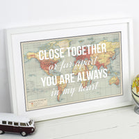 Long Distance Love Print-A4 Print-Of Life & Lemons®