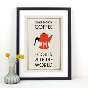 funny coffee quote print