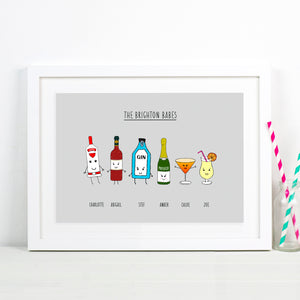 personalised friendship print