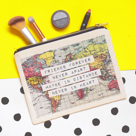 World Map Friendship Pouch