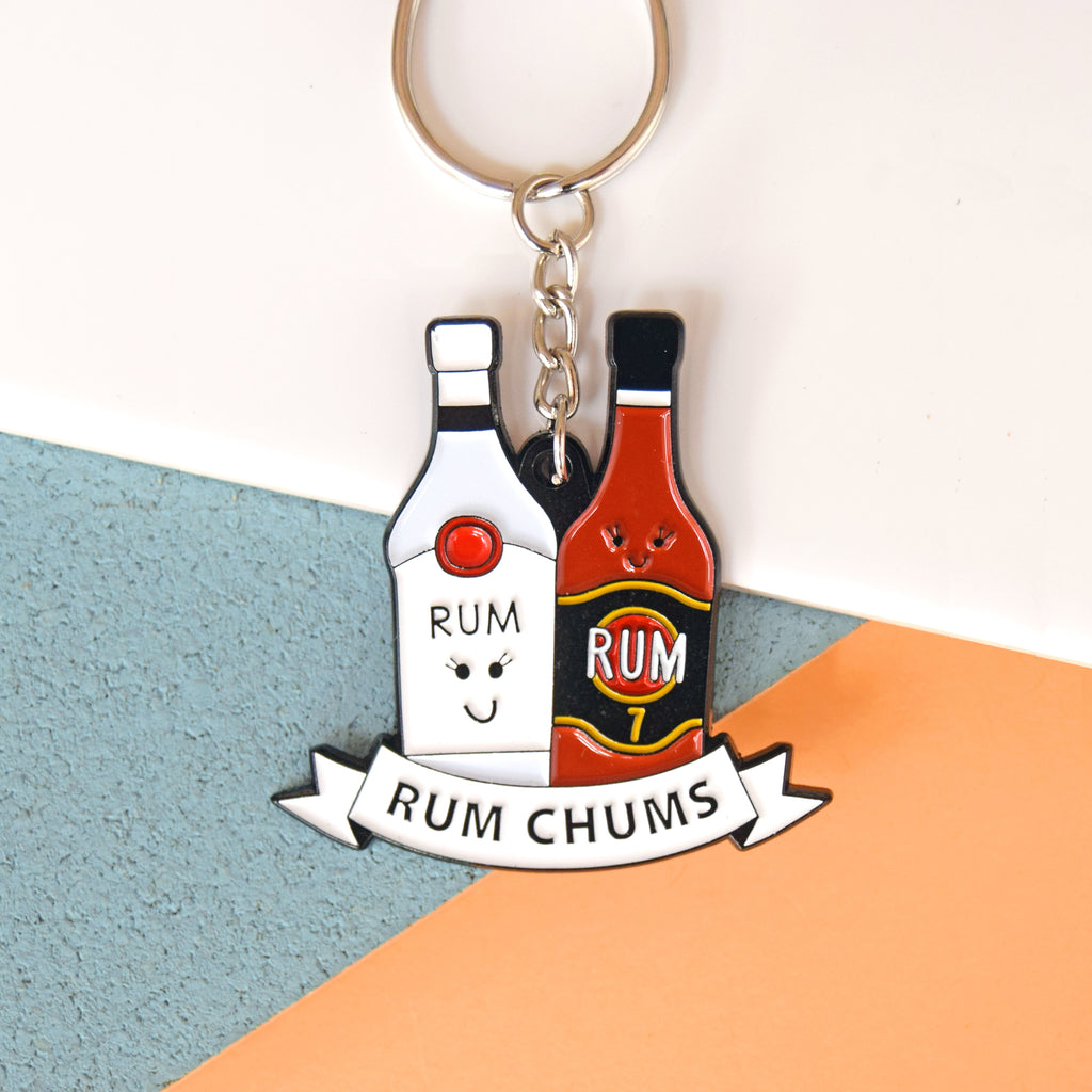 'Rum Chums' Rum Friendship Keyring-Of Life & Lemons®