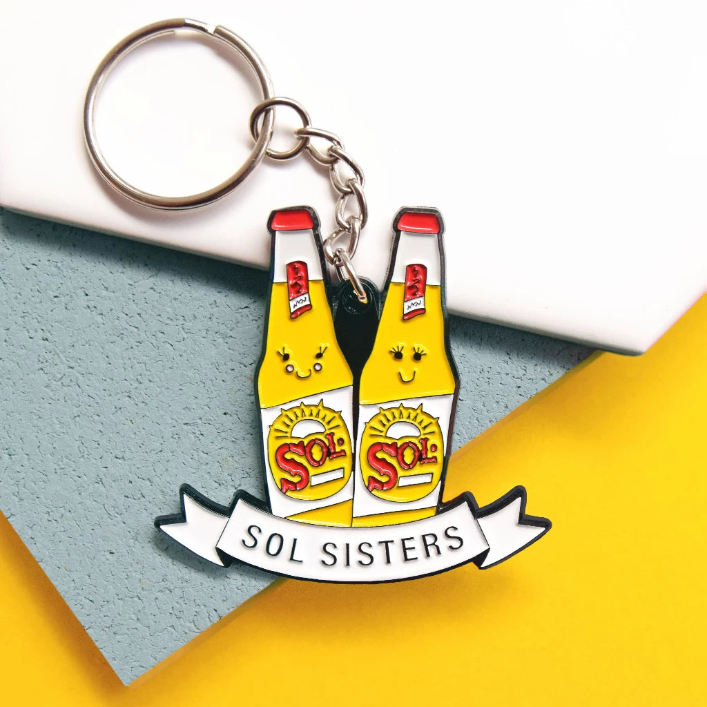 'Sol Sisters' Beer Keyring For Friend-Of Life & Lemons®