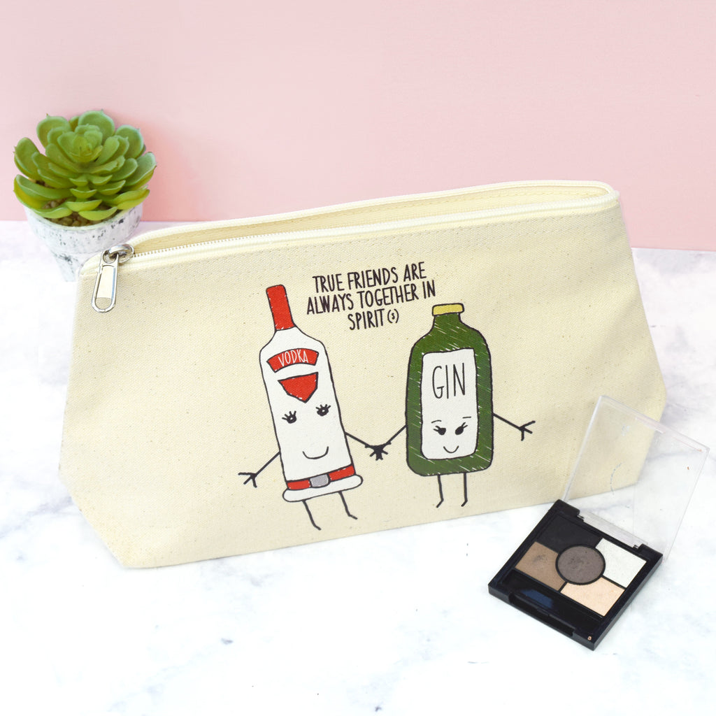 'Together in Spirits' Friendship Make Up Bag-Tote Bag-Of Life & Lemons®
